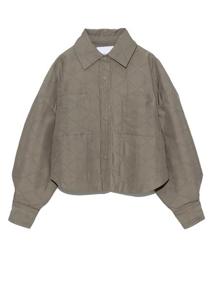 キルティングショート丈シャツ
