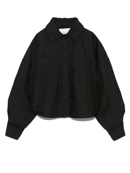 キルティングショート丈シャツ(BLK-0)