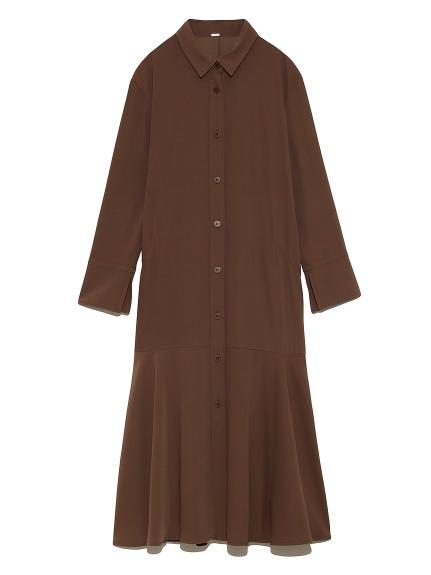 マーメイドラインジャージシャツドレス(BRW-0)