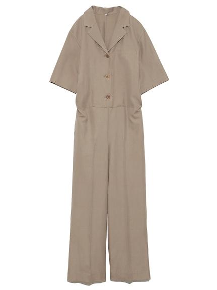 開襟半袖ジャンプスーツ(BEG-0)