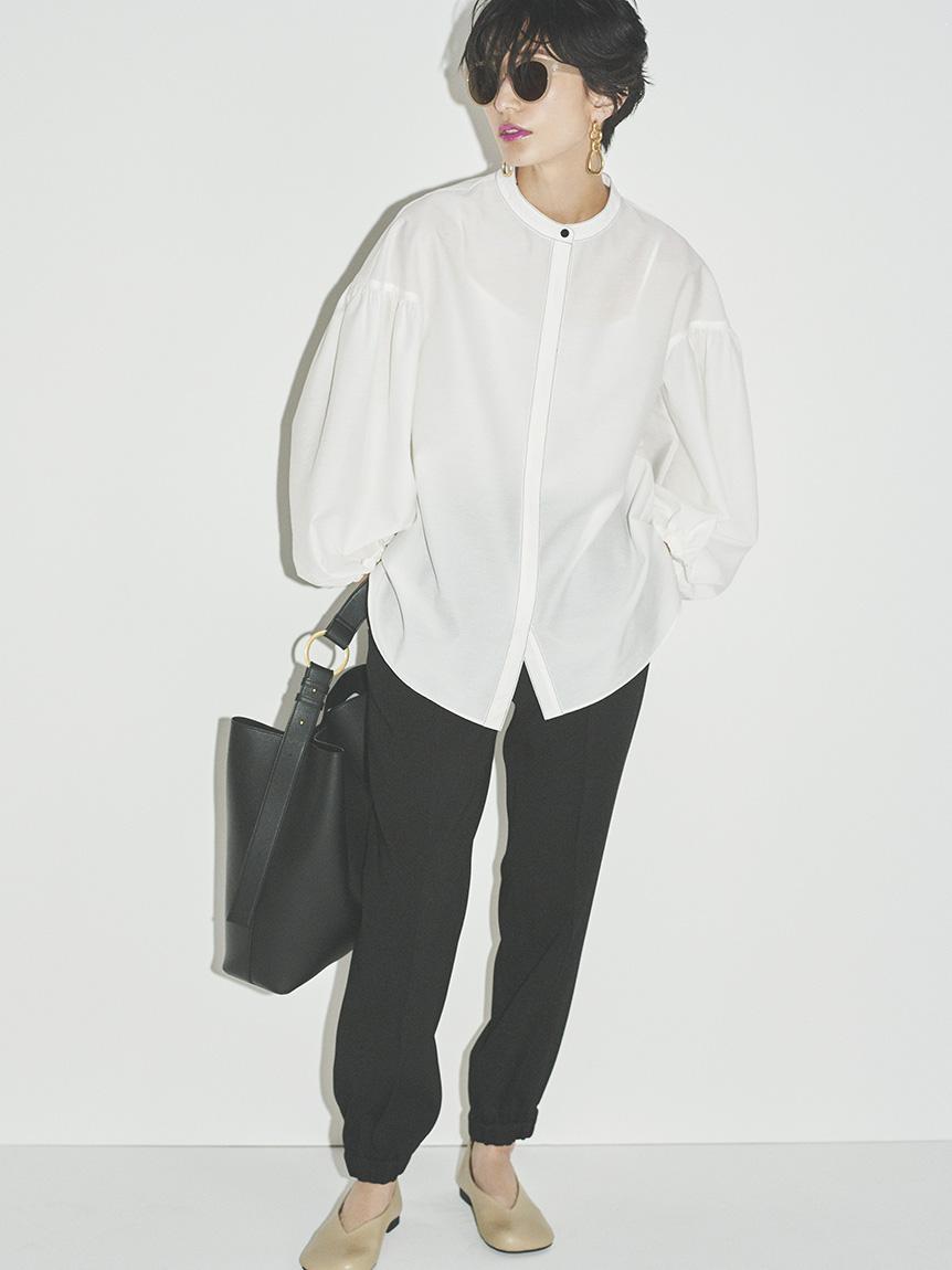ウエストゴム裾絞りジョガーパンツ(BLK-0)