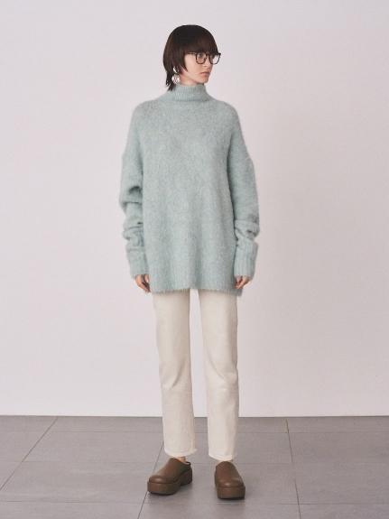 裾たまりストレートデニムパンツ(OWHT-0)
