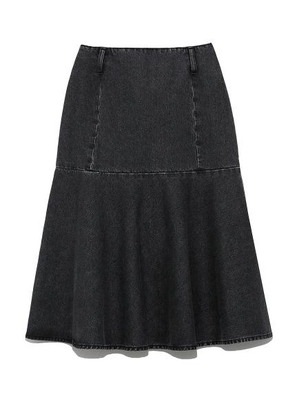 切替デザインデニムスカート
