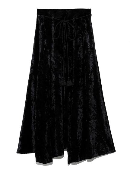 ランダムヘムベルベットマキシスカート(BLK-0)