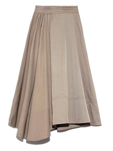 デザインヘムウエストシャーリングスカート