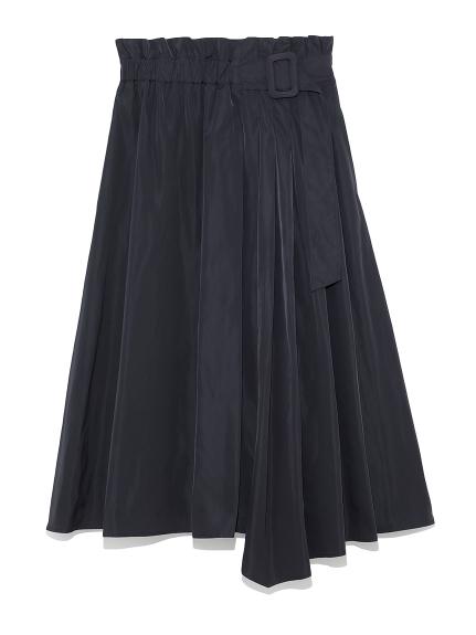 タックデザインフレアスカート(BLK-0)