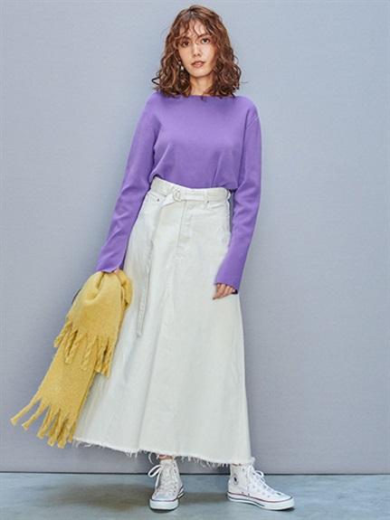 リメイク風Aラインデニムスカート