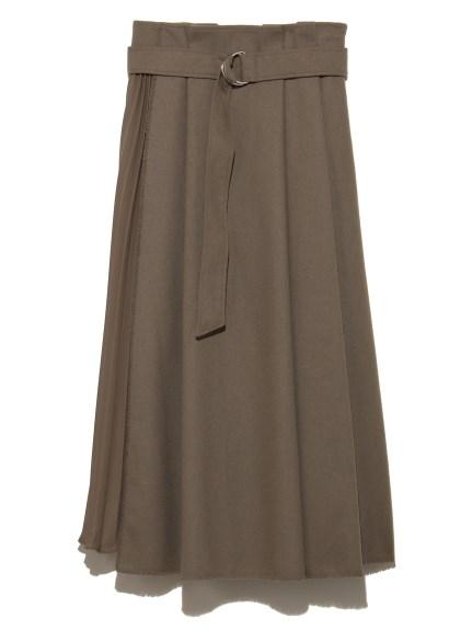 レイヤード風プリーツスカート