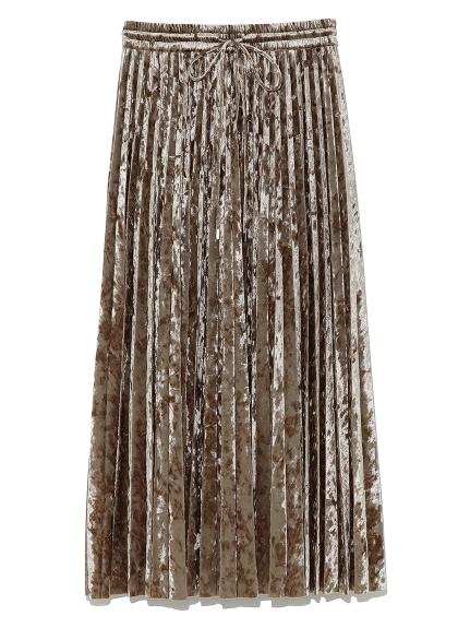 ドロストベロアプリーツスカート