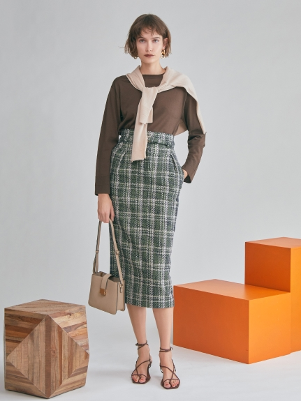 コクーンツイードスカート
