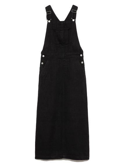 リネンジャンパースカート(BLK-0)