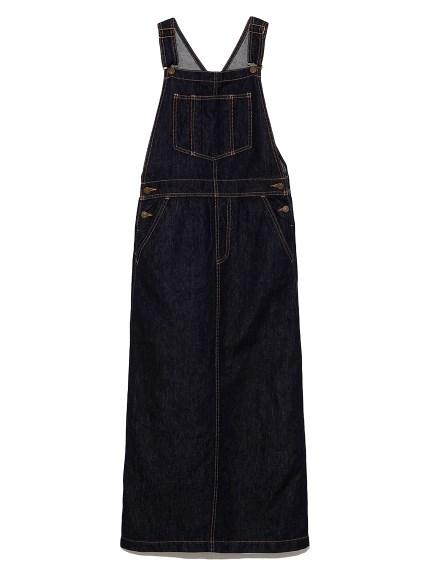 リネン混デニムジャンパースカート