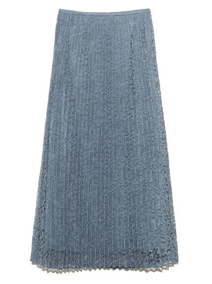 セットアップレースプリーツマキシスカート(LBLU-0)