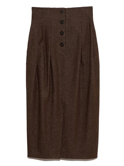 フロント釦タックコクーンスカート