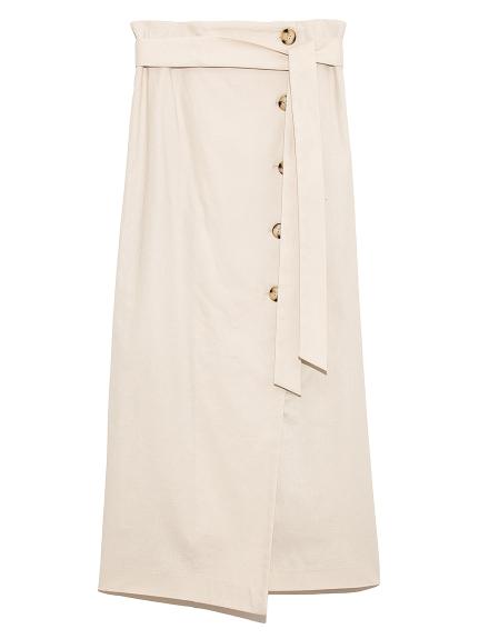 巻き風ストレートロングスカート(WHT-0)