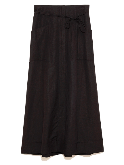 ポケット付セミフレアスカート(BLK-0)