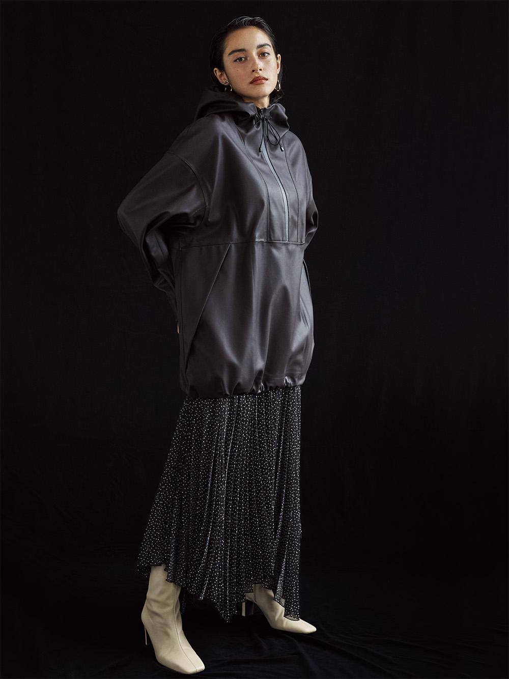 脇ヘムプリーツスカート(DOT-0)