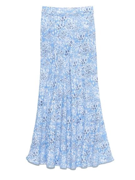 マーメイド花柄ナロースカート(BLU-0)
