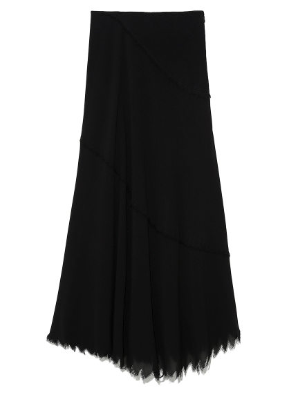 斜め切り替えナロースカート(BLK-0)