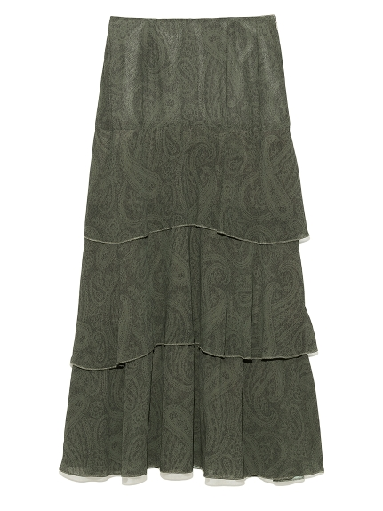 ティアードナロースカート(MIX-0)