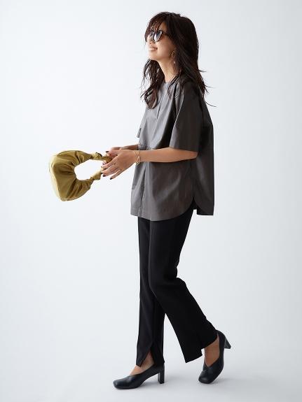 シャツカーブフェイクレザーTシャツ(BRW-0)