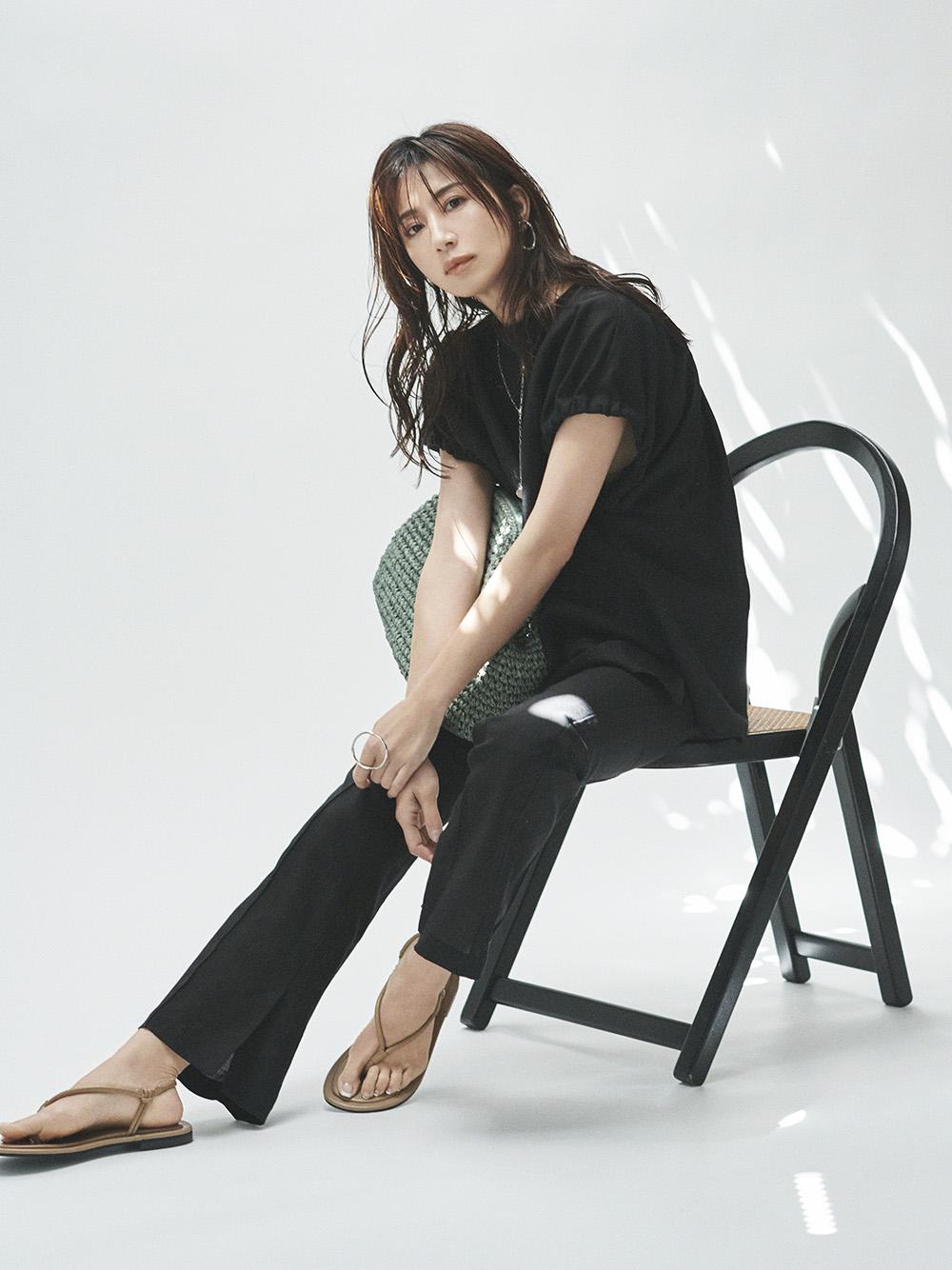 【オフィシャル限定】リネン混SETUPギャザースリーブTOP