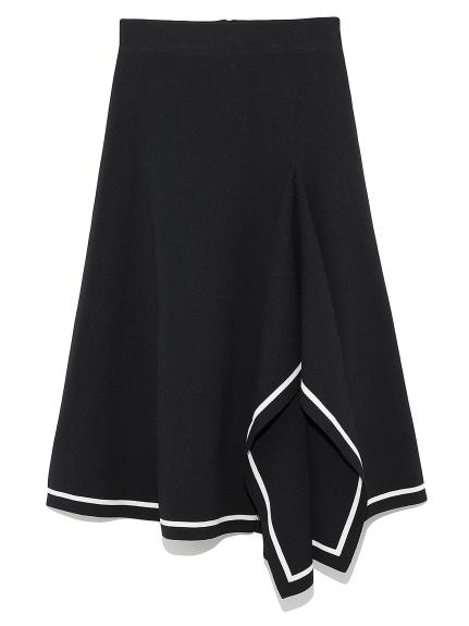 デザインヘムニットスカート(BLK-0)