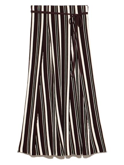 マルチカラーリップルニットスカート