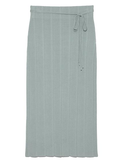 リブ風ニットタイトスカート