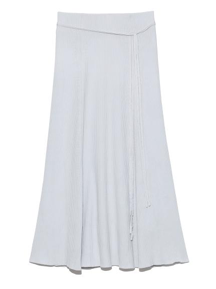 オーガニックパネルデザインニットスカート(GRY-0)