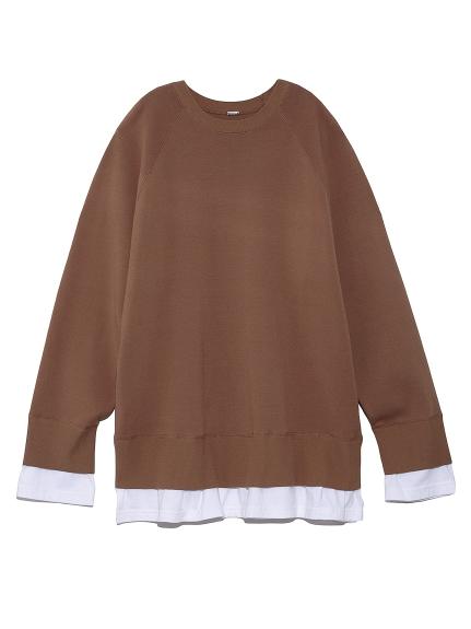 Tシャツドッキングトレーナー風ニット(CML-0)