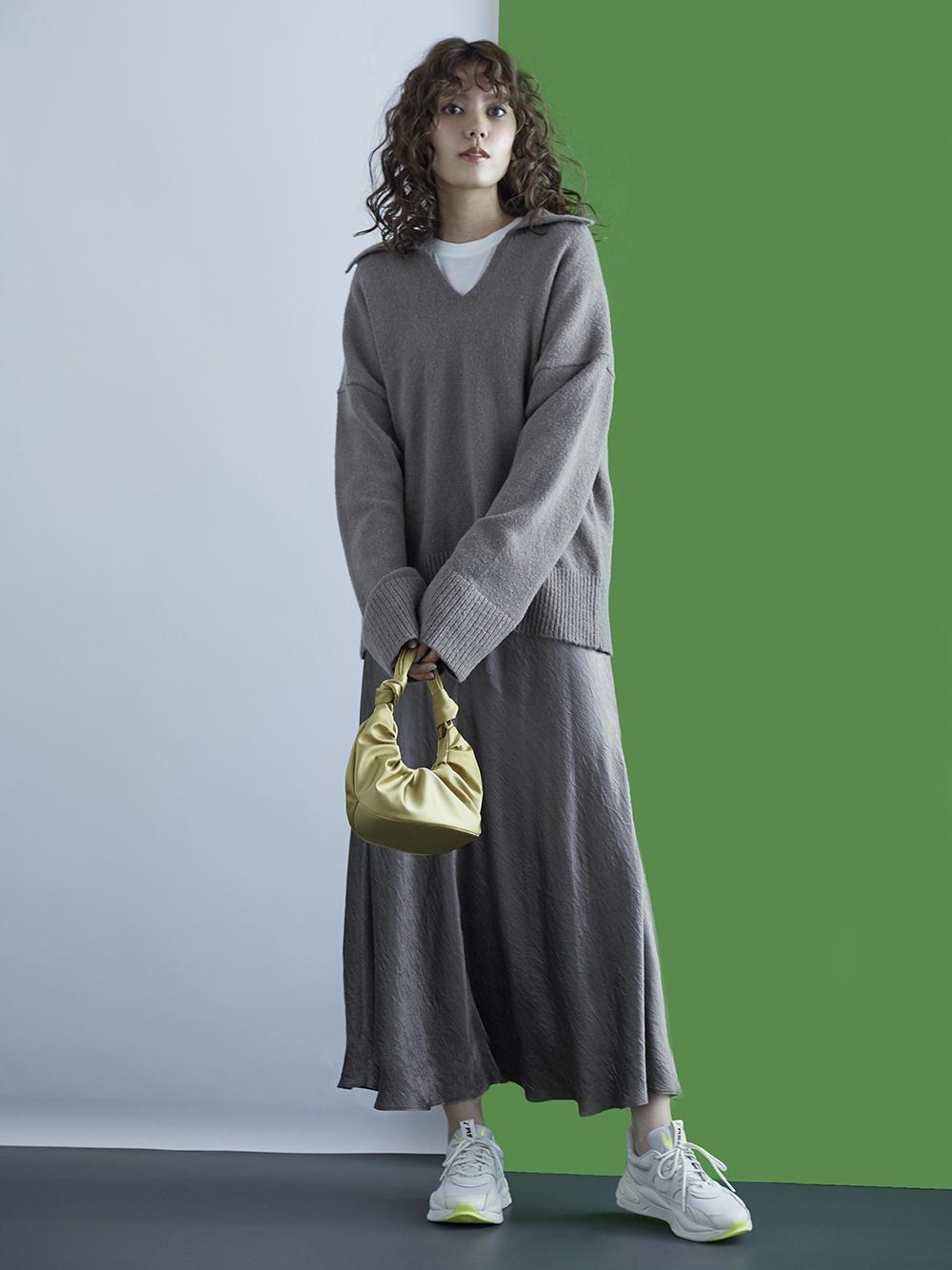 スキッパー衿ニットプルオーバー(KKI-0)