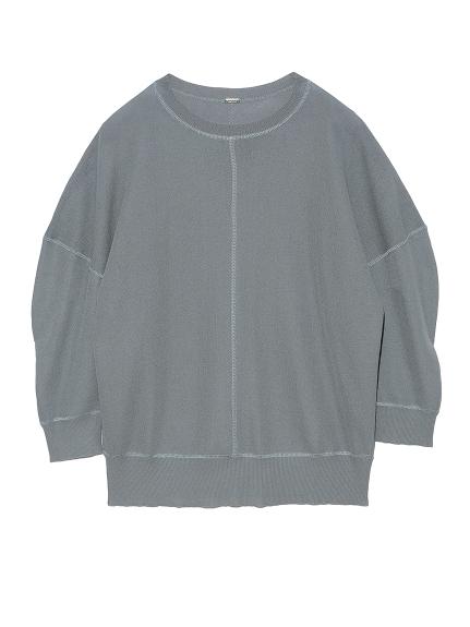SET UP 袖コンシャスニットトップス(LBLU-0)