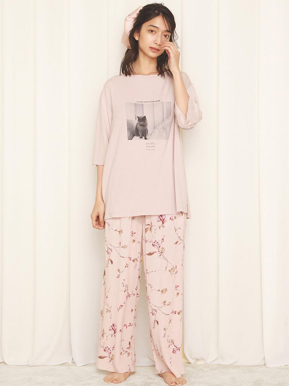 CATプリントTシャツ(LAV-F)
