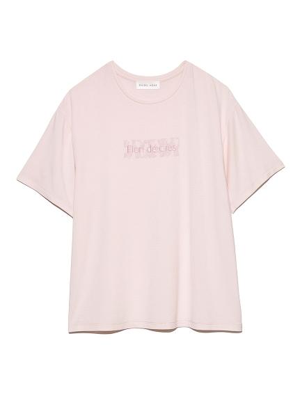 【SAKURA COLLECTION】 レーヨンロゴTシャツ(PNK-F)