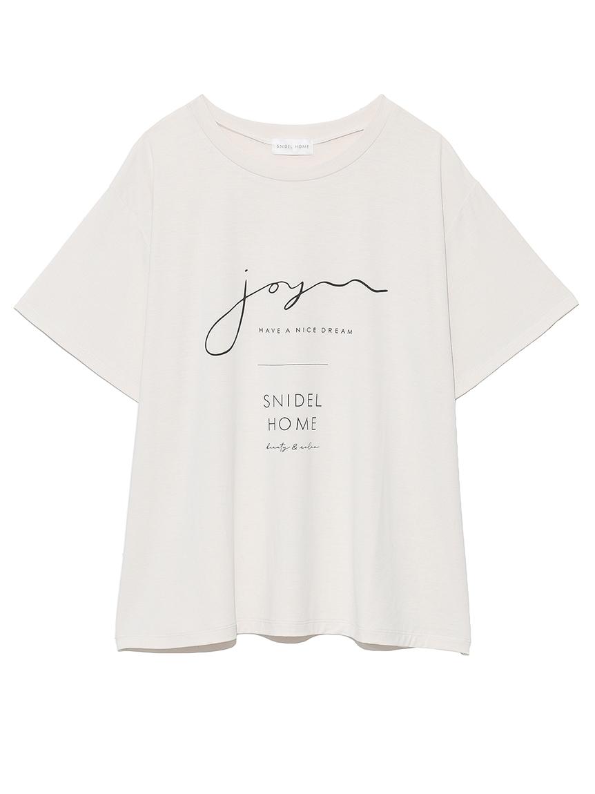 サラフリーメッセージロゴTシャツ
