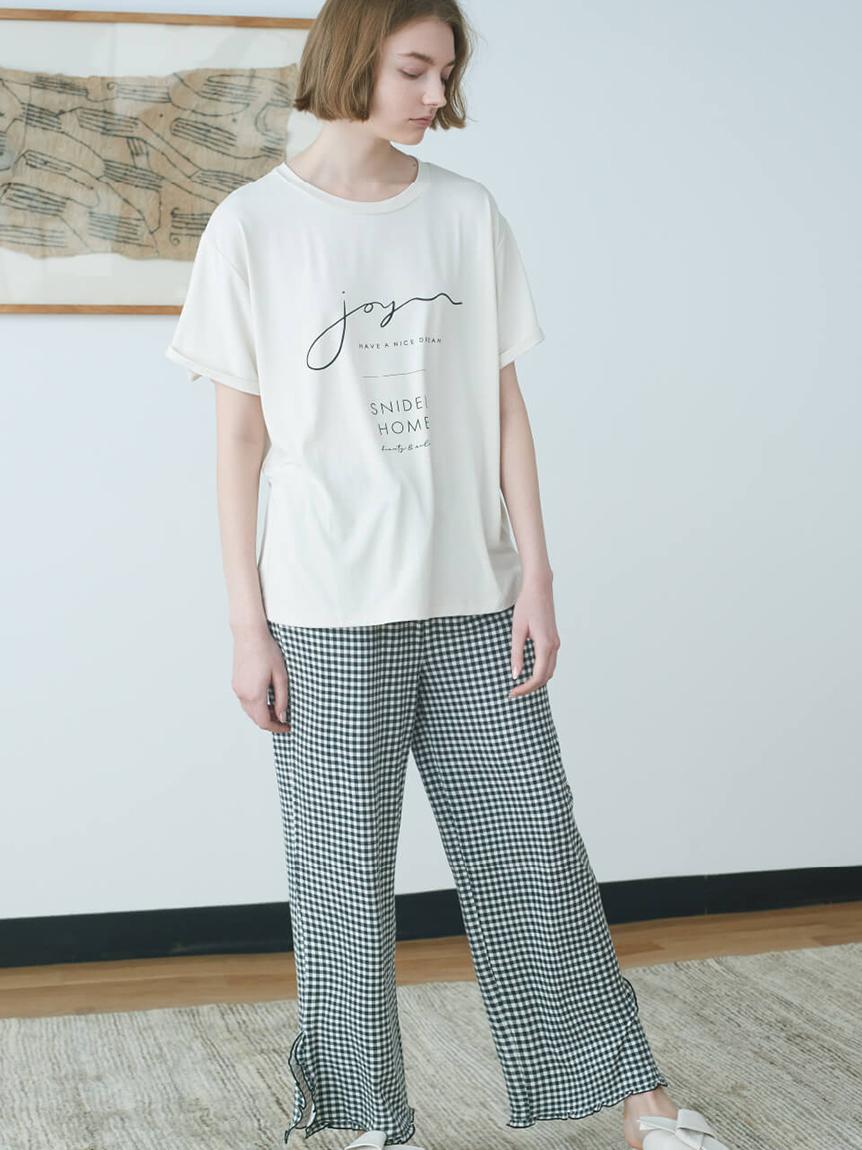 サラフリーメッセージロゴTシャツ(IVR-F)