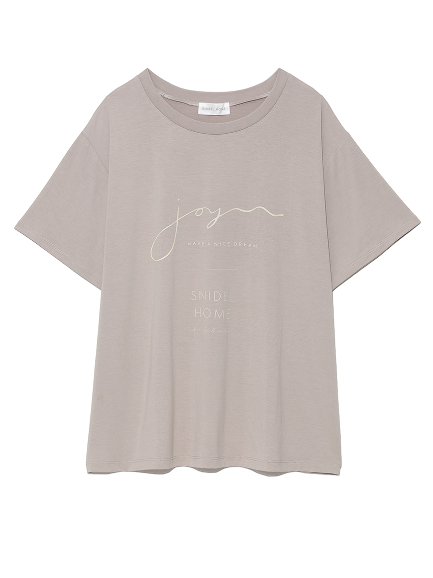 サラフリーメッセージロゴTシャツ(DGRY-F)