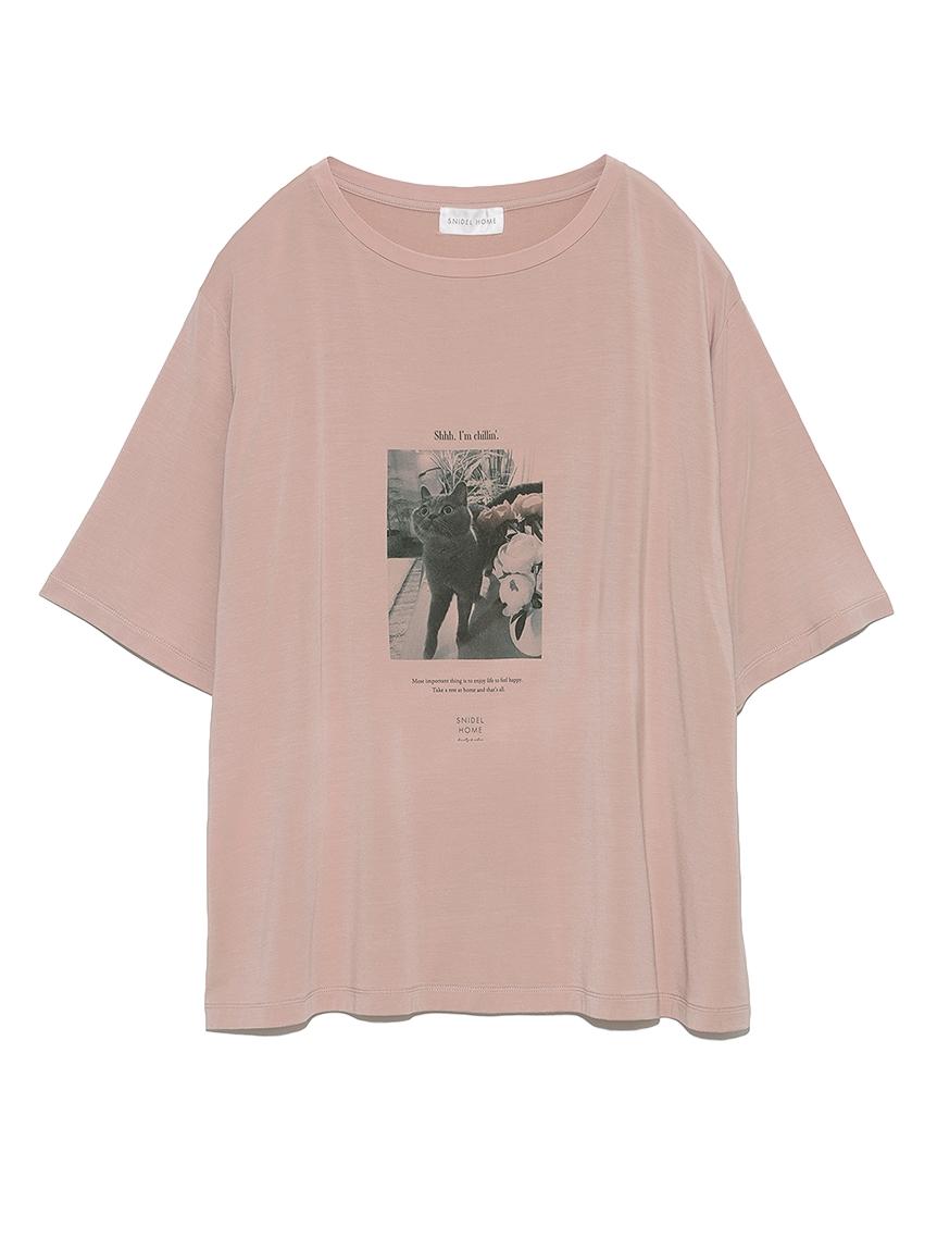 catプリントTシャツ(PBEG-F)