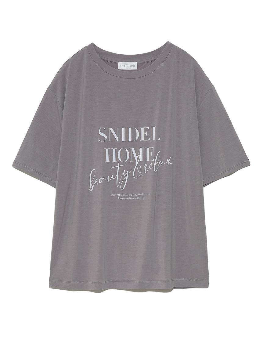 SNIDEL HOME ロゴTシャツ(MOC-F)