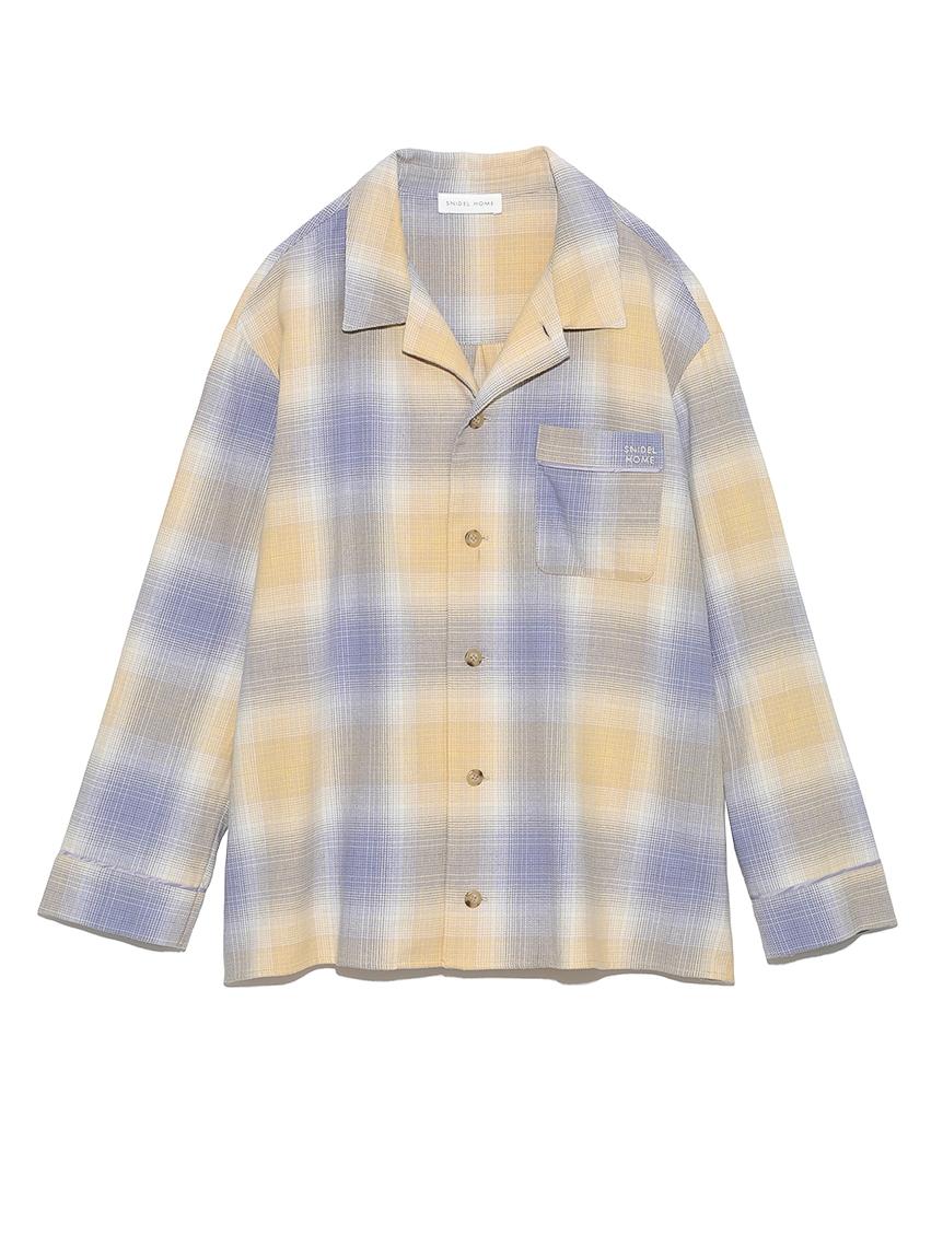 ネルチェックシャツ(YEL-F)