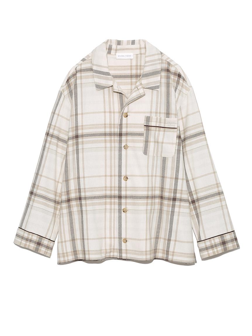 ネルチェックシャツ(BEG-F)