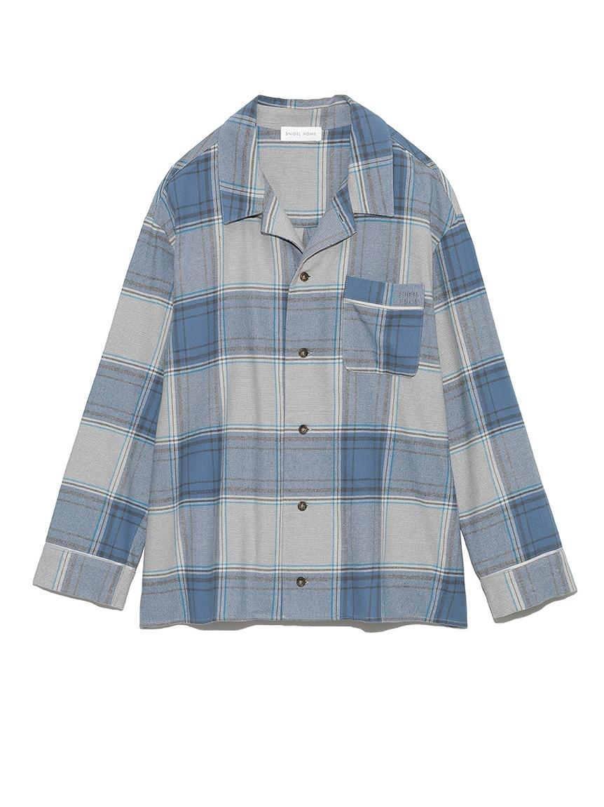 ネルチェックシャツ(BLU-F)