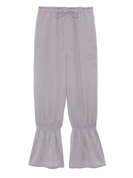 裾シャーリングフリルパンツ(GRY-F)