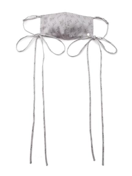 キャットプリントサテンマスク(CGRY-F)