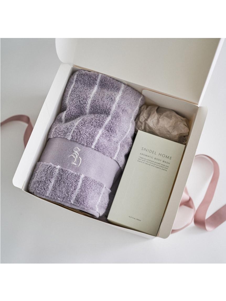 bodywash & bathtowel set(PURE LINEN-F)