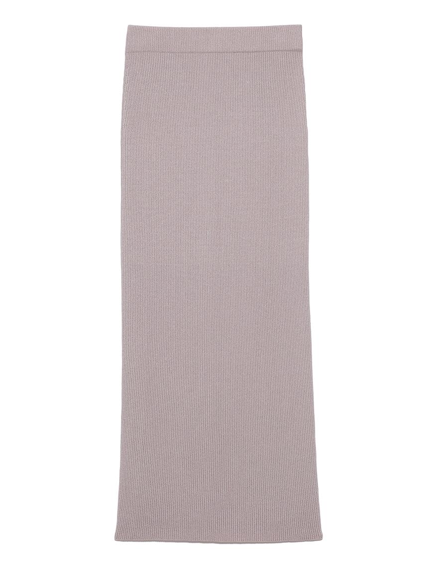 カシミアタッチタイトロングスカート