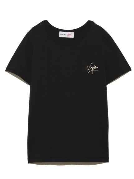 【SNIDEL feat.Virgin RECORDS】ロゴTシャツ(BLK-F)