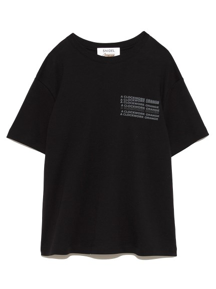 時計仕掛けのオレンジ Tシャツ(BLKxMNT-F)