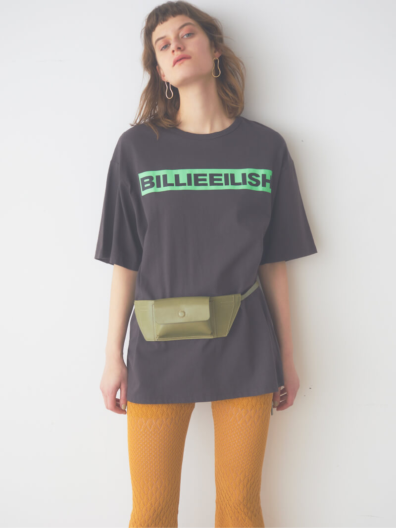 【SNIDEL feat. BILLIE EILISH】 Tシャツ(BLK-F)